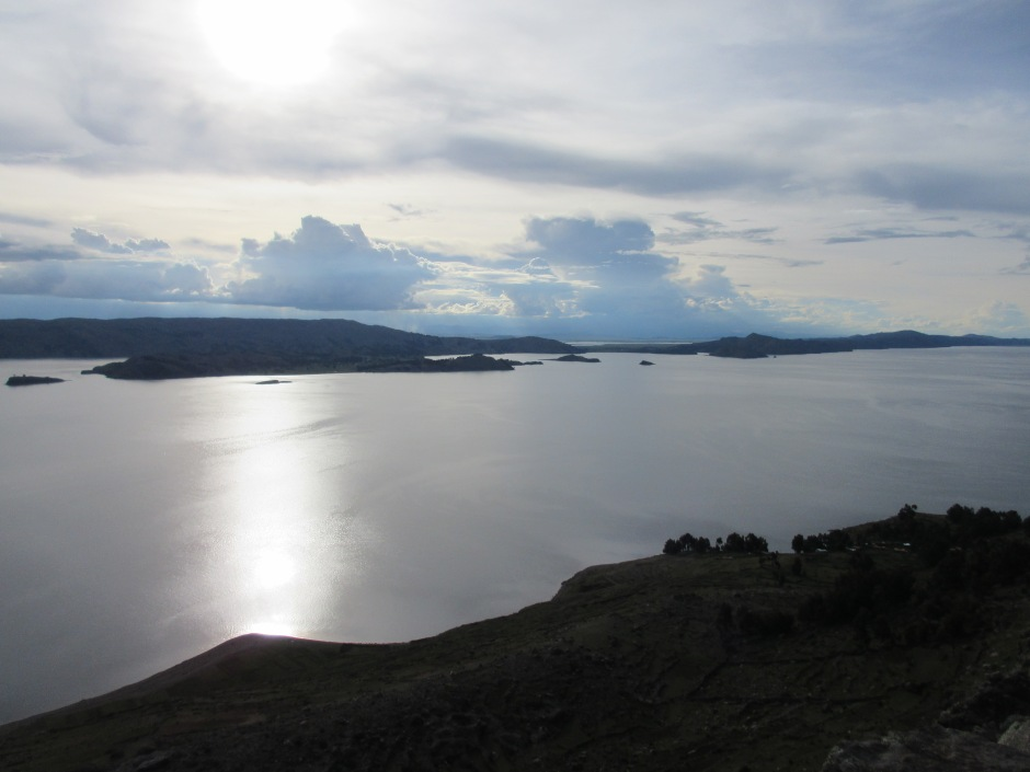 Lago Titicaca at sunset.